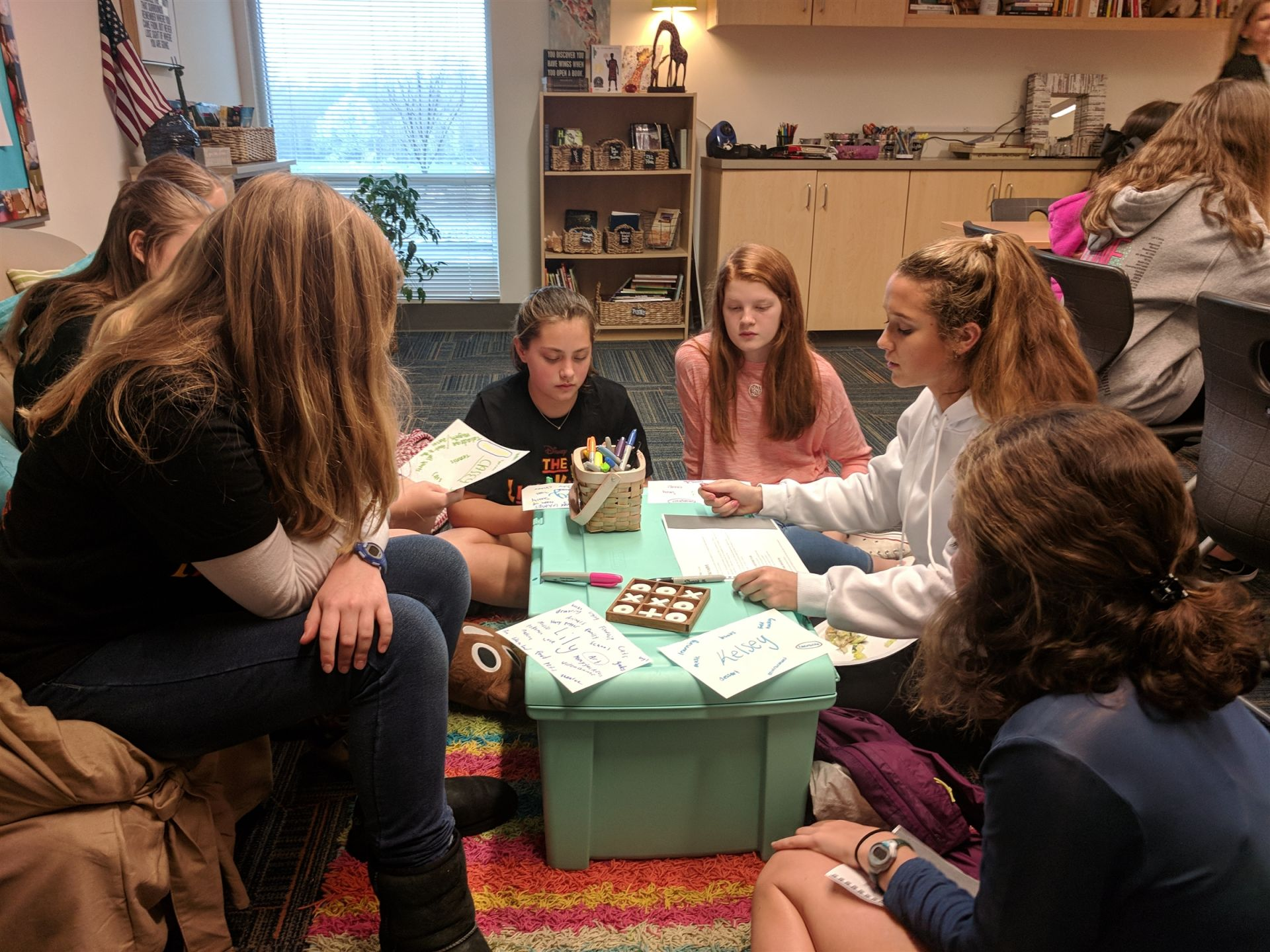 Our Middle School counselor provides social and emotional support, and programming for the Middle School community. Working with students in the classroom, in groups, and individually creates easy access and a comforting environment.