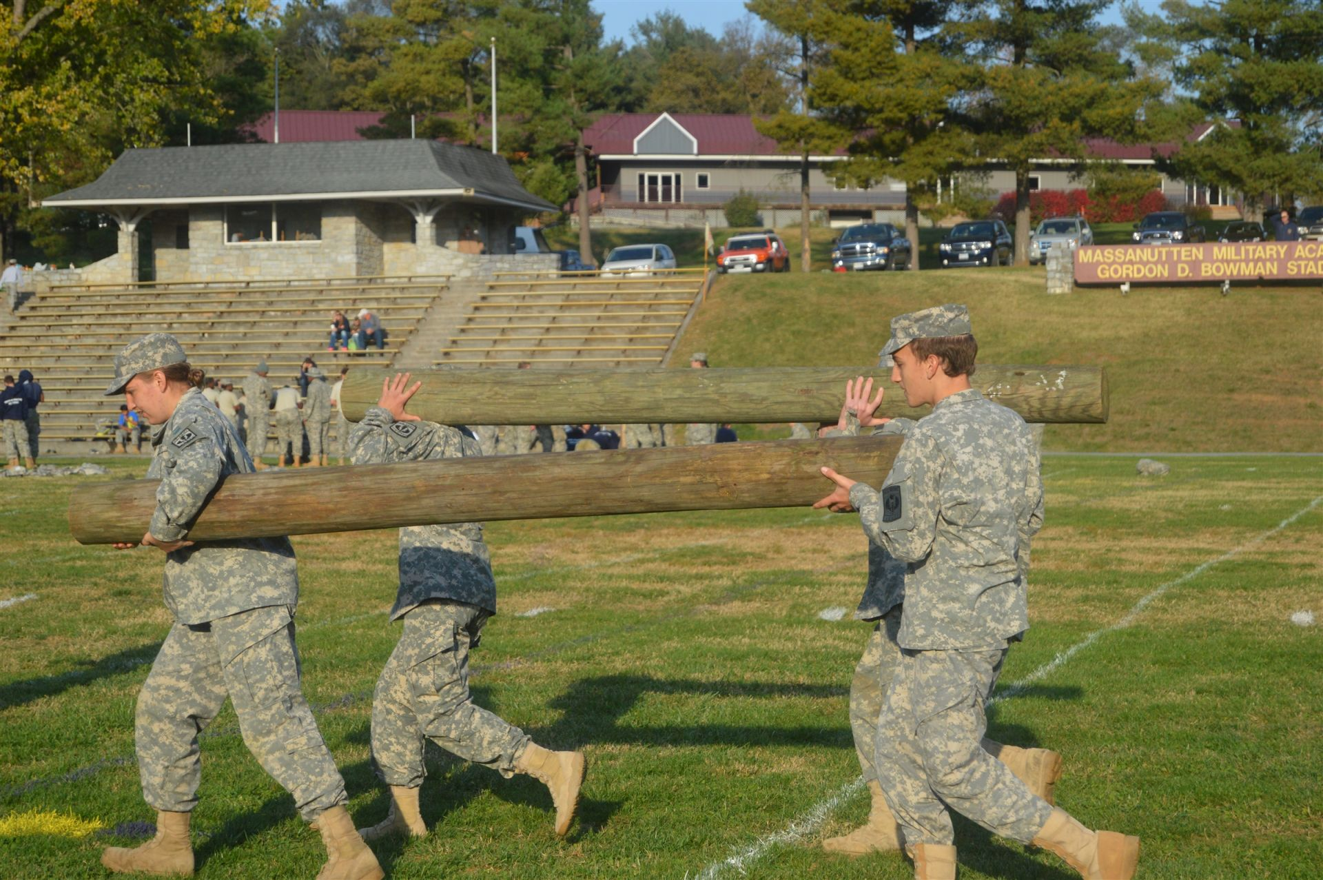 The Cadets accomplish their tasks through leadership and teamwork.