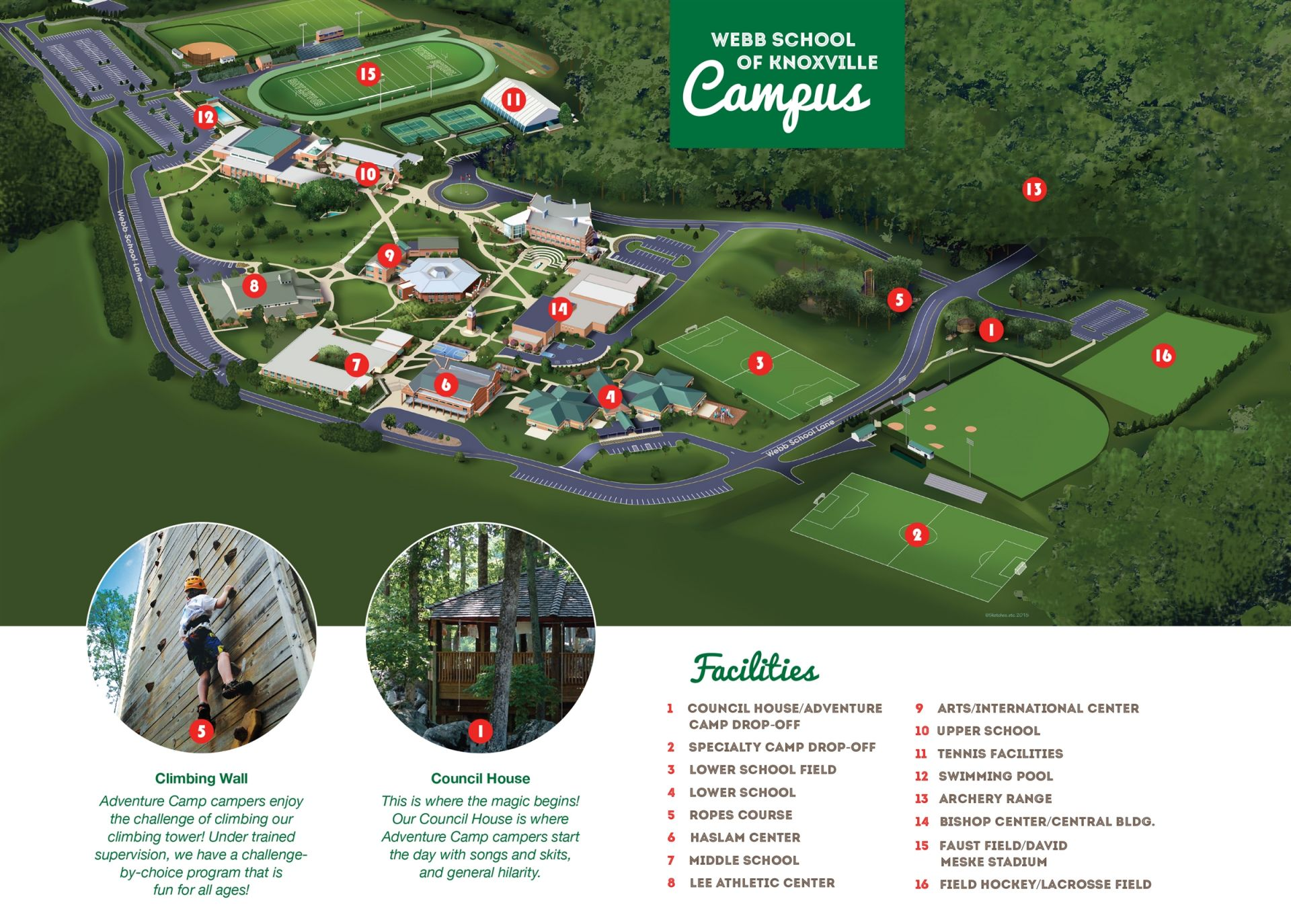 Pellissippi Campus Map.Webb School Of Knoxville Facilities And Directions