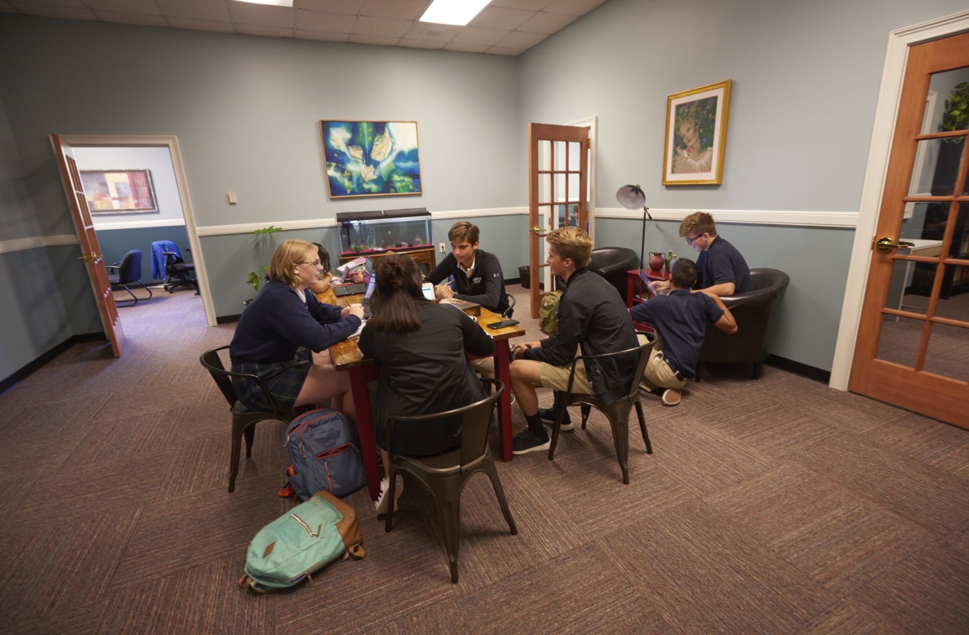 The Teaching and Learning Center offers a collaborative space for study and one-on-one support.