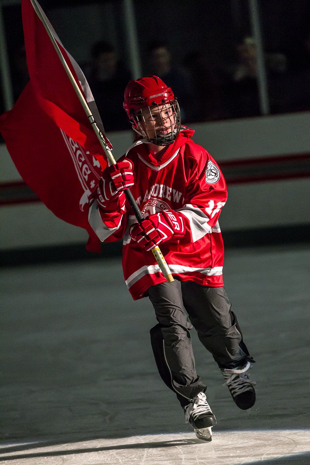 Fionn Keon, grade 6, a member of U12 Hockey