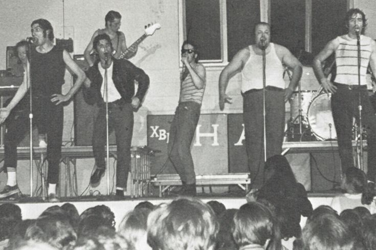 Chuck Berry and Sha Na Na both play at Xaverian, starting a long history of major rock stars performing at Xaverian.
