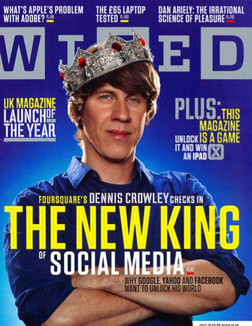 Dennis Crowley '94, co-creator and sole owner, launches Foursquare, a location-based social networking website for mobile devices