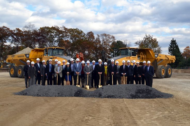 Xaverian holds a ceremonial groundbreaking to officially launch the campus improvements.