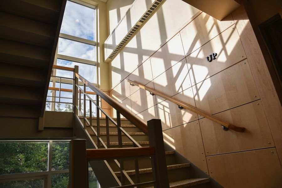 The central staircase gets a face-lift