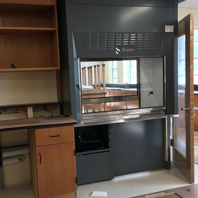 The Laboratory Fume Hoods will complement the chemistry classes, keeping the focus on safety. (July 8, 2016)