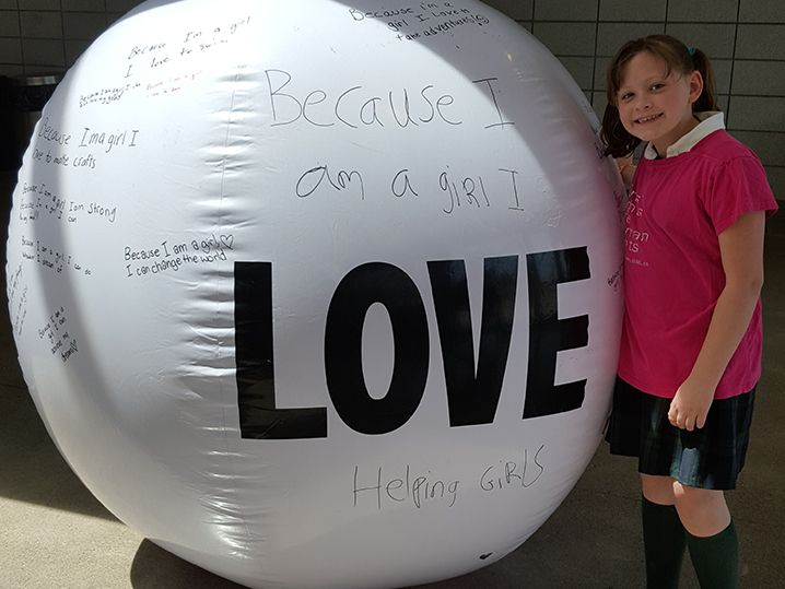 Ball with the word Love