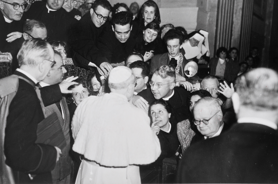 B. Theophane meeting Pope Pius XII