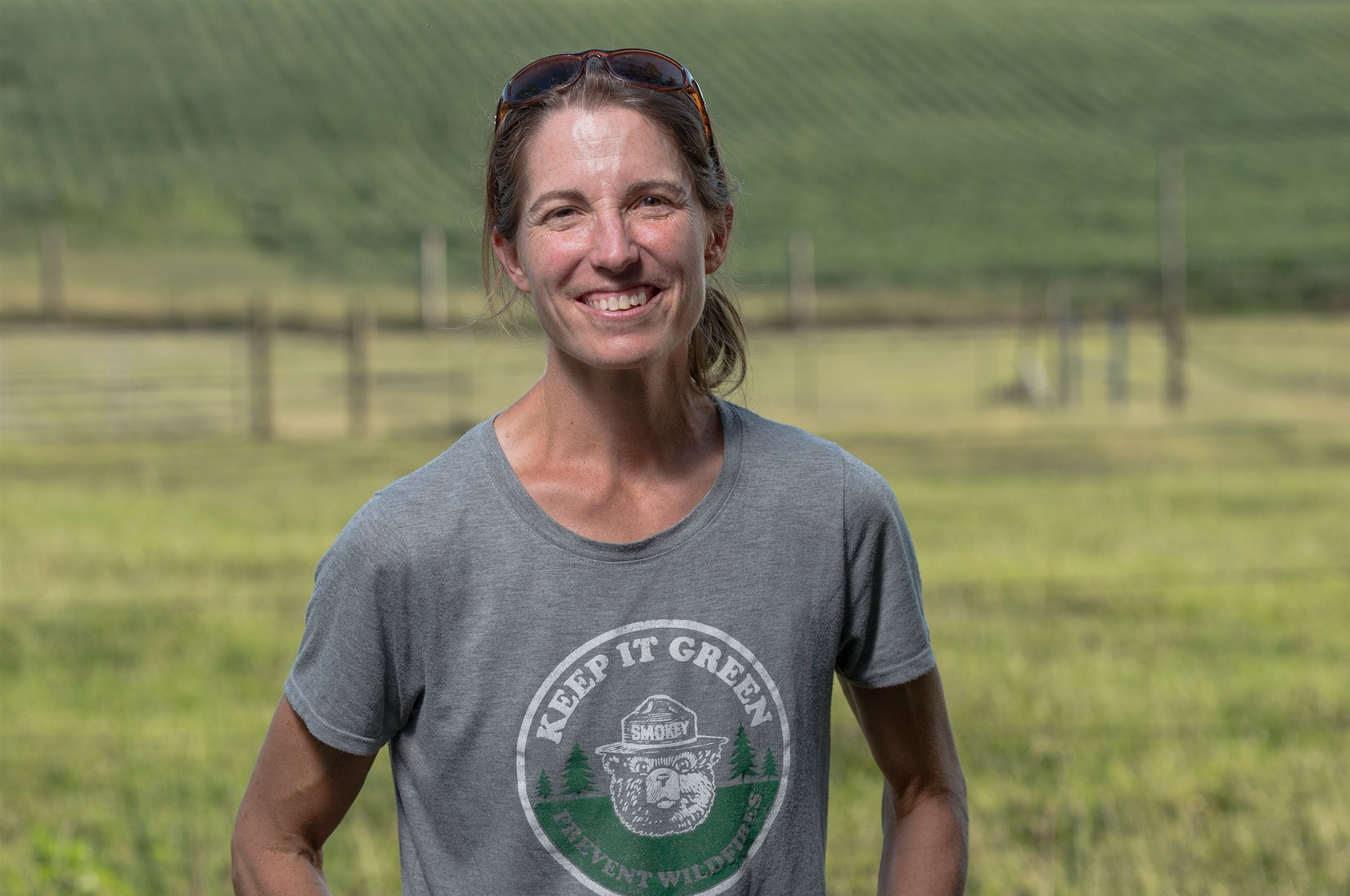 "Jamie Blythe is a fifth generation farmer who has brought sustainability and modern agricultural technology to increase farming yields while also improving environmental impact on the 3,800-acre family farm. <br> <br><a class=""button"" href=""https://www.hutchisonschool.org/page/alumnae-news-detail?pk=1058955"">Read Her Story</a>"