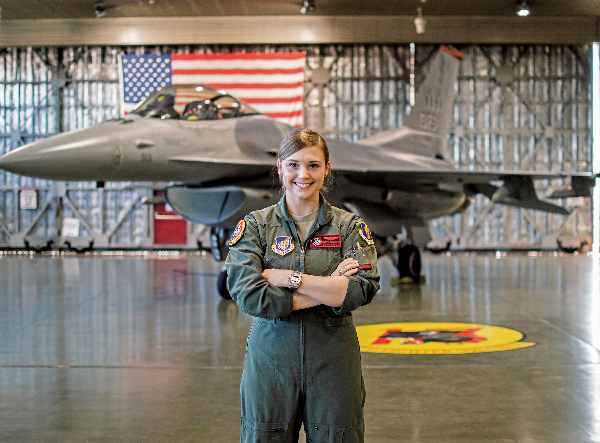 "Captain Trimble always knew she wanted to be a fighter pilot. It was the more challenging path, but she knew that it would bring the most joy. These days she flies F-16s in the United States Air Force. <br> <br><a class=""button"" href=""https://www.hutchisonschool.org/page/alumnae-news-detail?pk=1018983"">Read Her Story</a>"