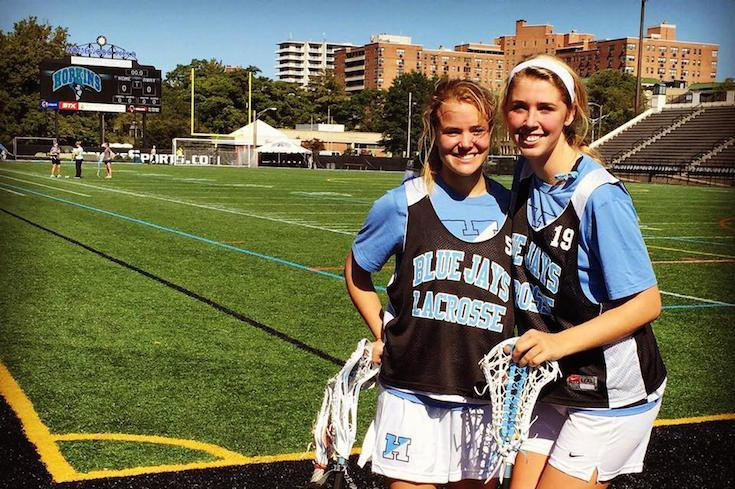 Alumnae Chloe Duke '15 and Loring Gearhardt '15, Hutchison All Americans and four-time state lacrosse champions while at Hutchison now attend Johns Hopkins University together and are on the school team.
