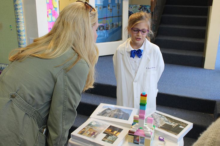 Student in living museum
