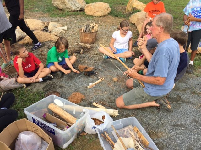 5th graders learn wilderness survival skills