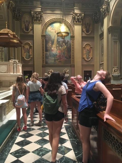 8th grade trip to Philly - Basilica