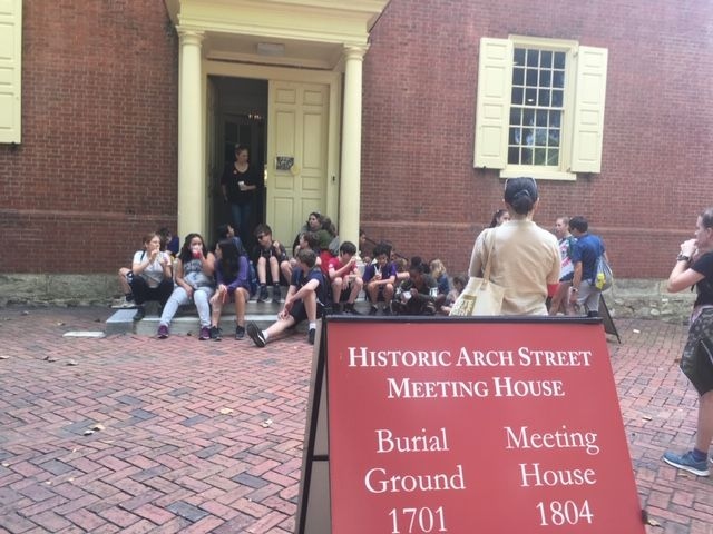 8th grade trip to Philly - Meeting House