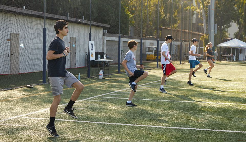 High school fall sports' athletes began phase 1 of conditioning and training on campus with physical distancing and detailed health protocols in place.