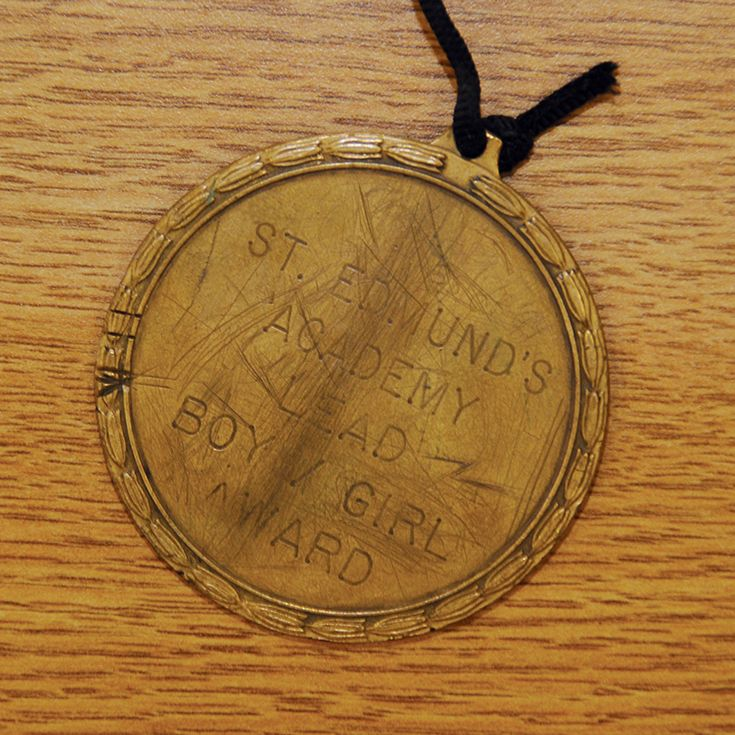 Be sure to ask about the story of the carved initials on the back of the Lead Student medallion when you come for a tour.  This time-honored tradition has a very interesting past.