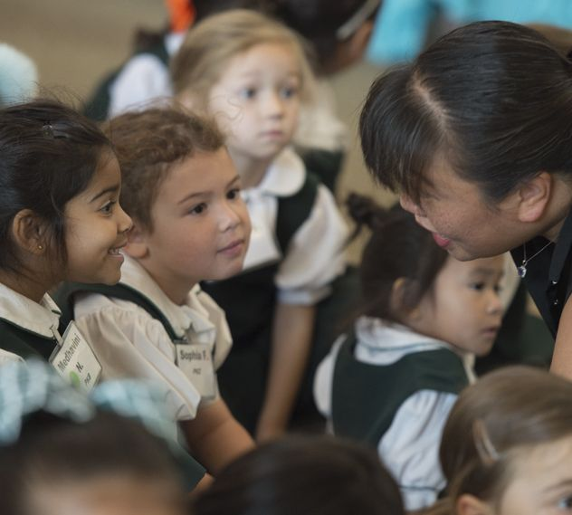 Rosetta Lee visits with Lower School
