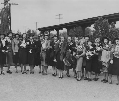 1939 Travel Class to New York at the Highland Park Katy Train Station