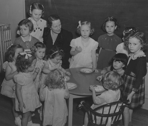 1937 Ela Hockaday Hosts Baby Party