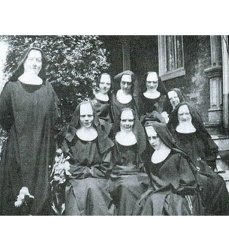 Sisters in front of St. Elizabeth Convent on Broom St.