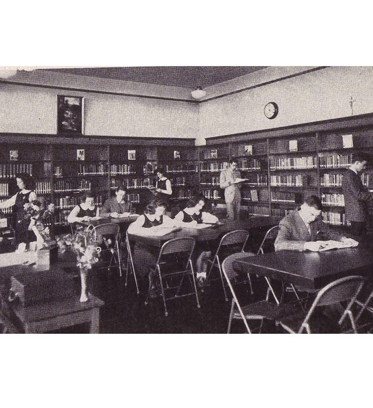 The SEHS library was located where the HS faculty room is today.