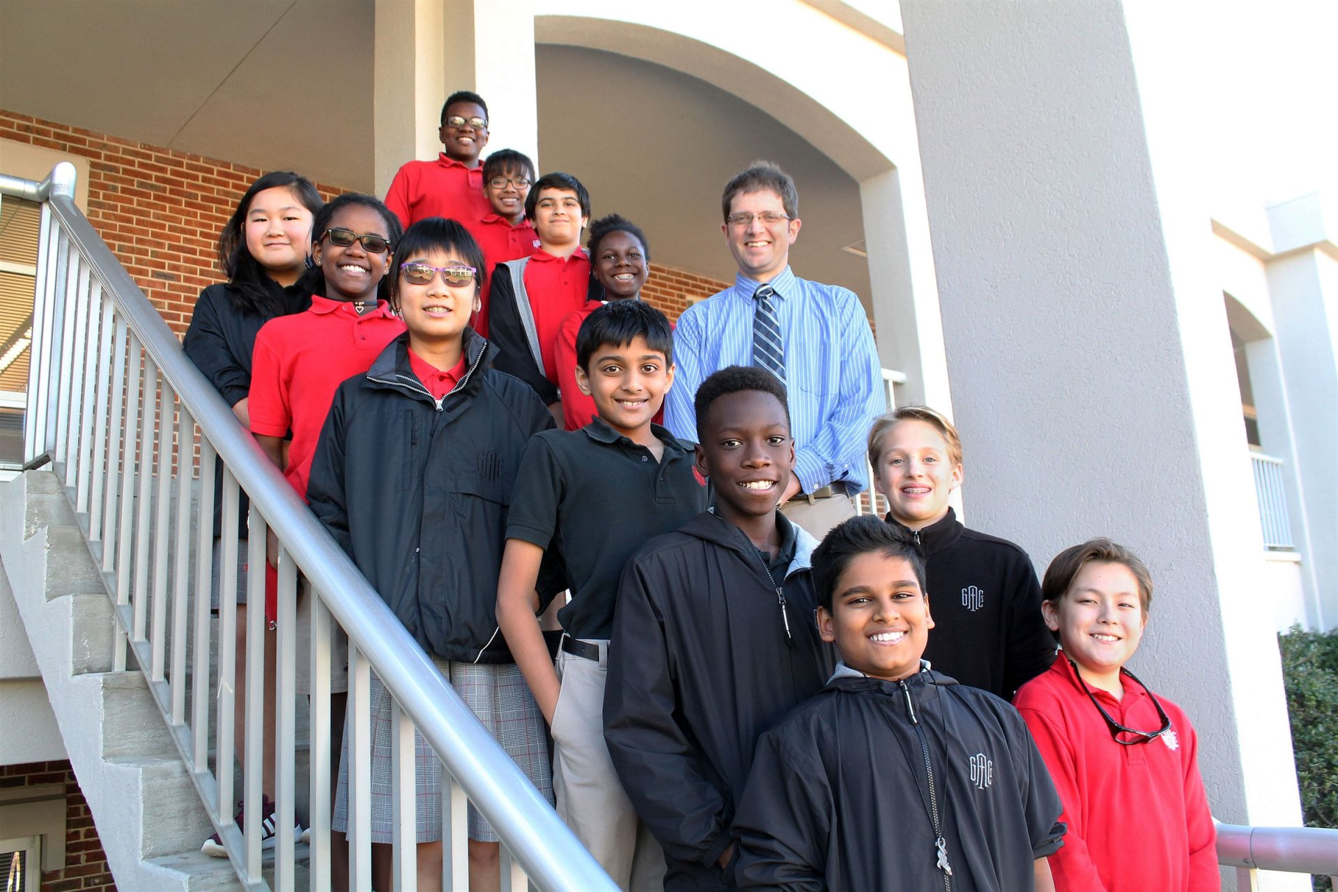 The Middle School Academic Team meets regularly throughout the school year, preparing for competitions.