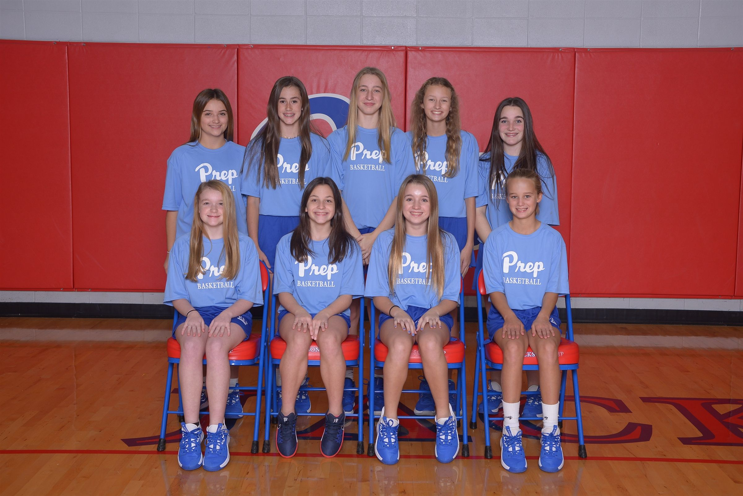 Back row (l to r): Alex Williams, Taylor Caton, Halie Sutton, Bennett Carter, Rosie Ward  Front row (l to r): Meredith Kalahar, Lilla Watson, Dendy Hogan, Lucy Cook (not pictured: Emmy Craddock)