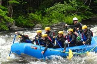 Rafting in Lake George