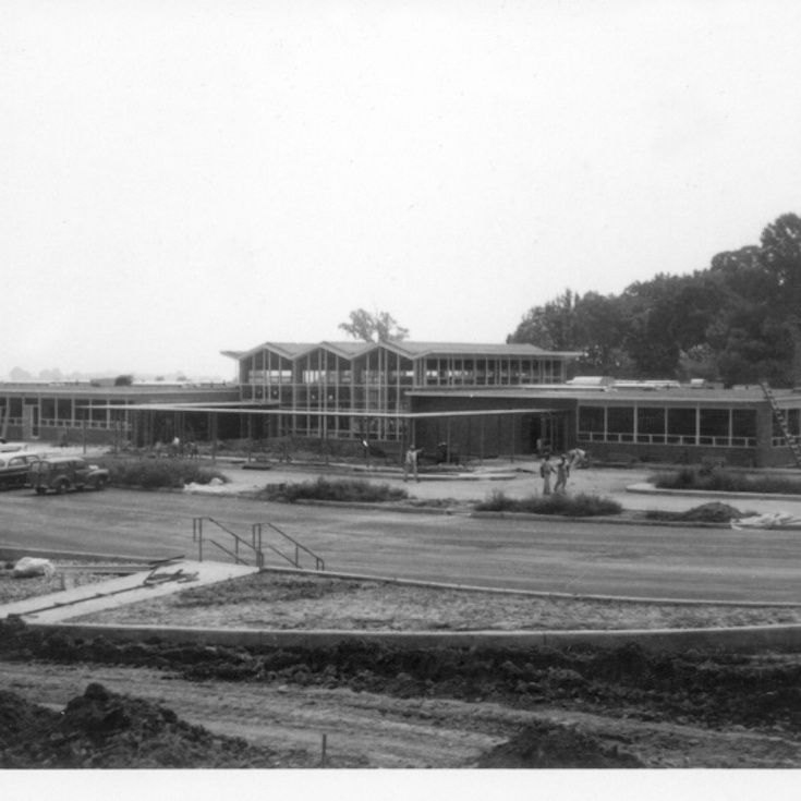 The Beekley Building, home to Middle School and Upper School, was dedicated in 1959.