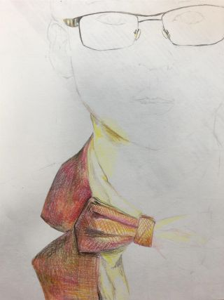 Oscar Liu '25 Self Portrait - In Progress