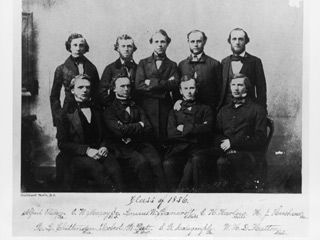 Class of 1856 - the earliest known VTS class picture.