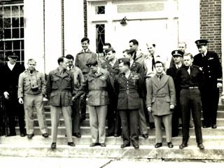 The greater need for military chaplains during World War II and the Cold War brought active duty servicemen to VTS, including this group of students in 1949.