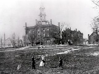 Virginia Theological Seminary during the Civil War as captured by photographer Matthew Brady.