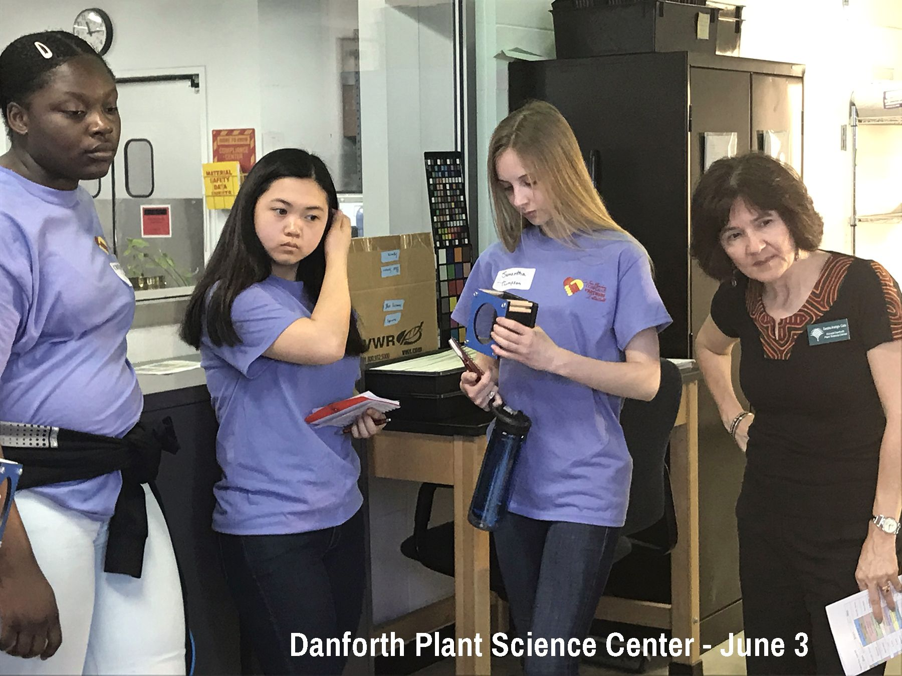CJ students begin SEE Week at the Danforth Plant Science Center