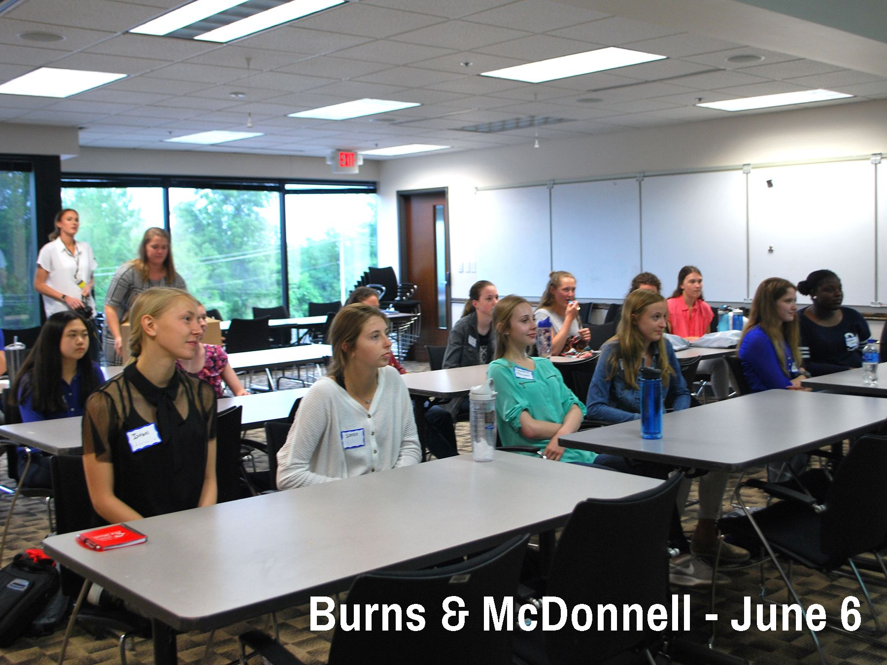 Cor Jesu students learn about Consulting Engineering at Burns & McDonnell