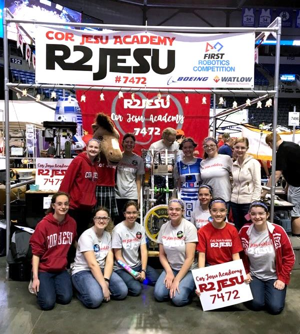 Cor Jesu Robotics Club at FIRST competition
