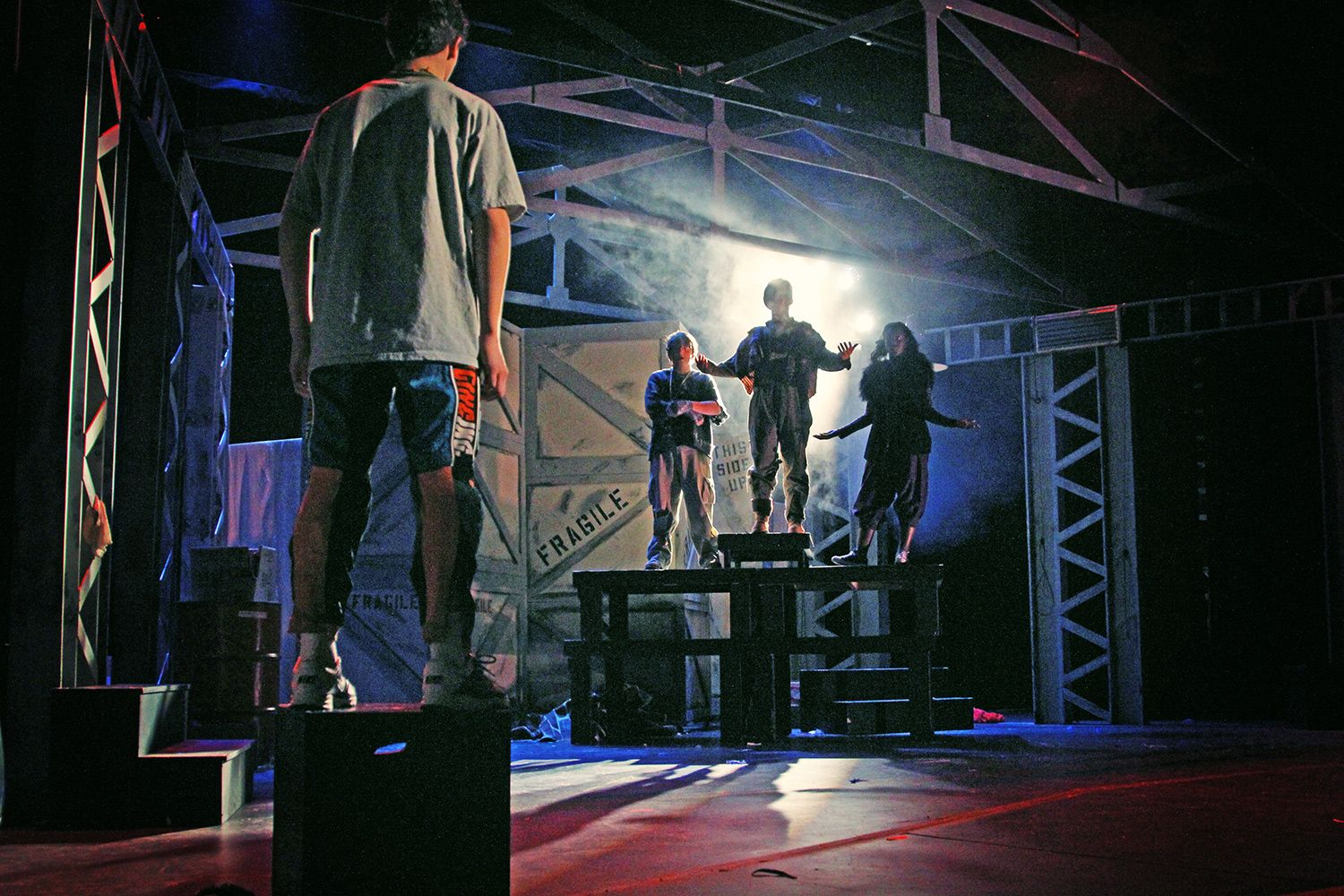 Scene from US production of Godspell