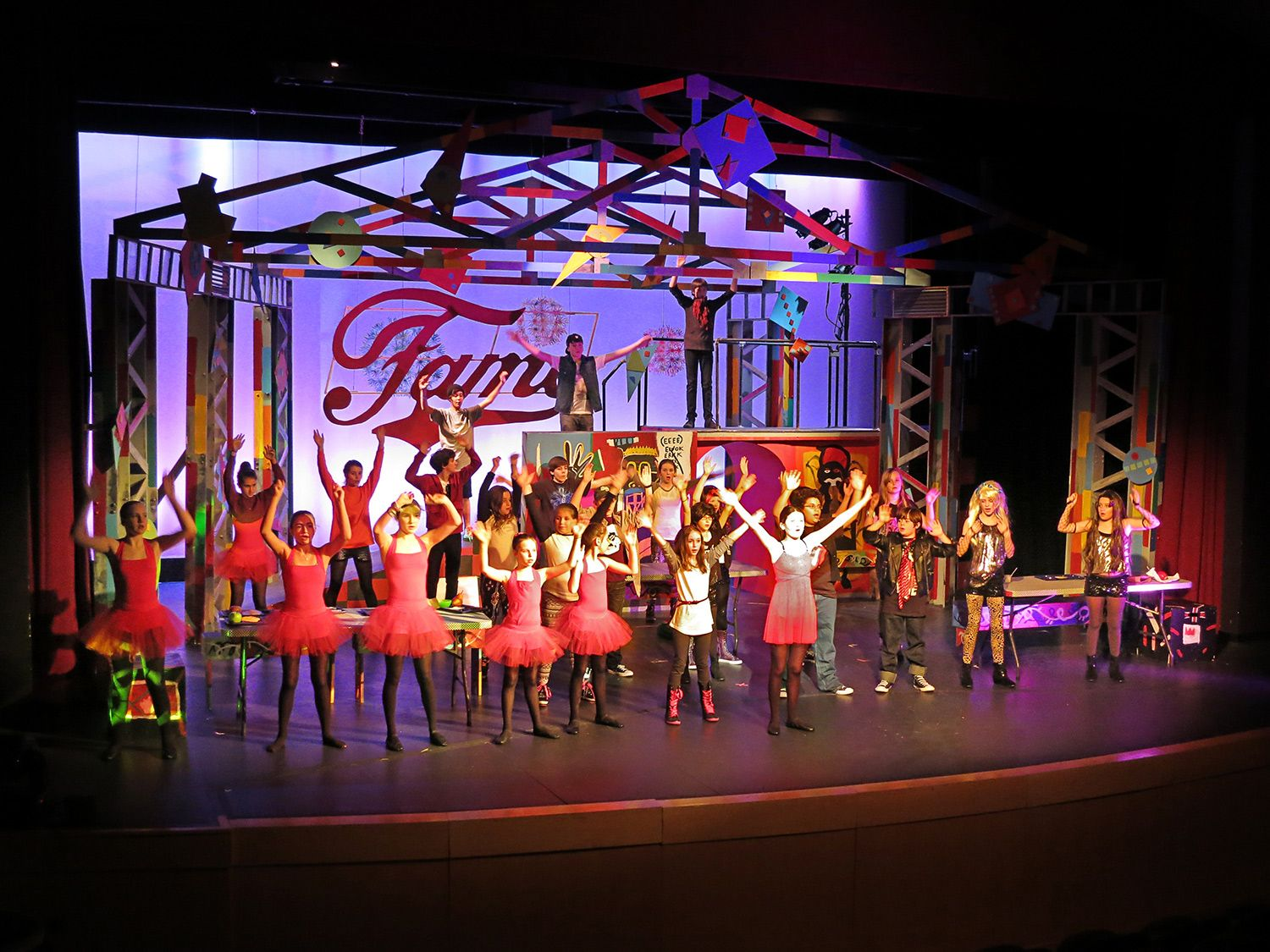 Set from MS production of Fame, Jr.