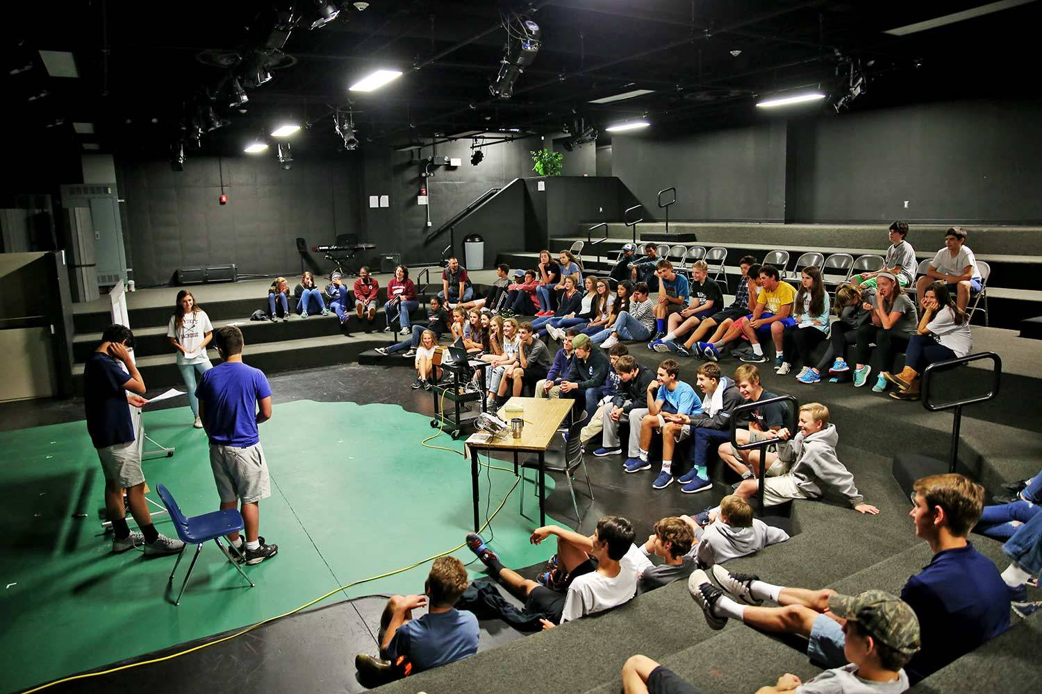 Class meeting held in Black Box Theater