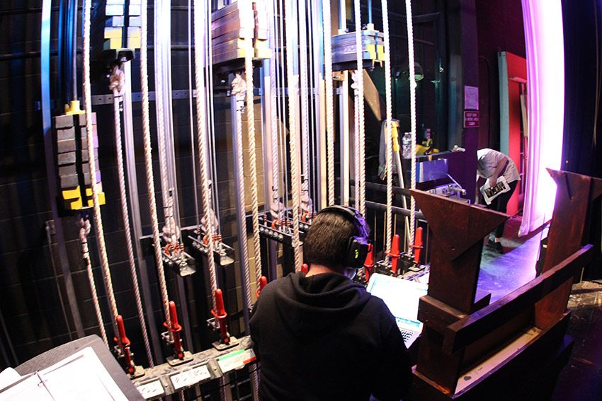 Advanced fly system allows stage crew to quickly and safely hoist stage components.