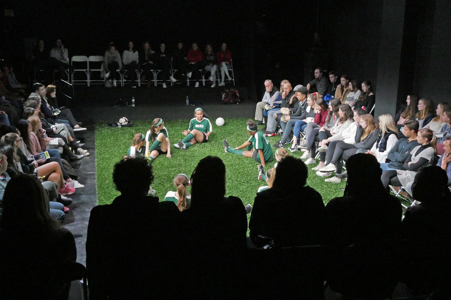 St. Luke's Wyckoff Family Black Box Theater was transformed into a turf field for