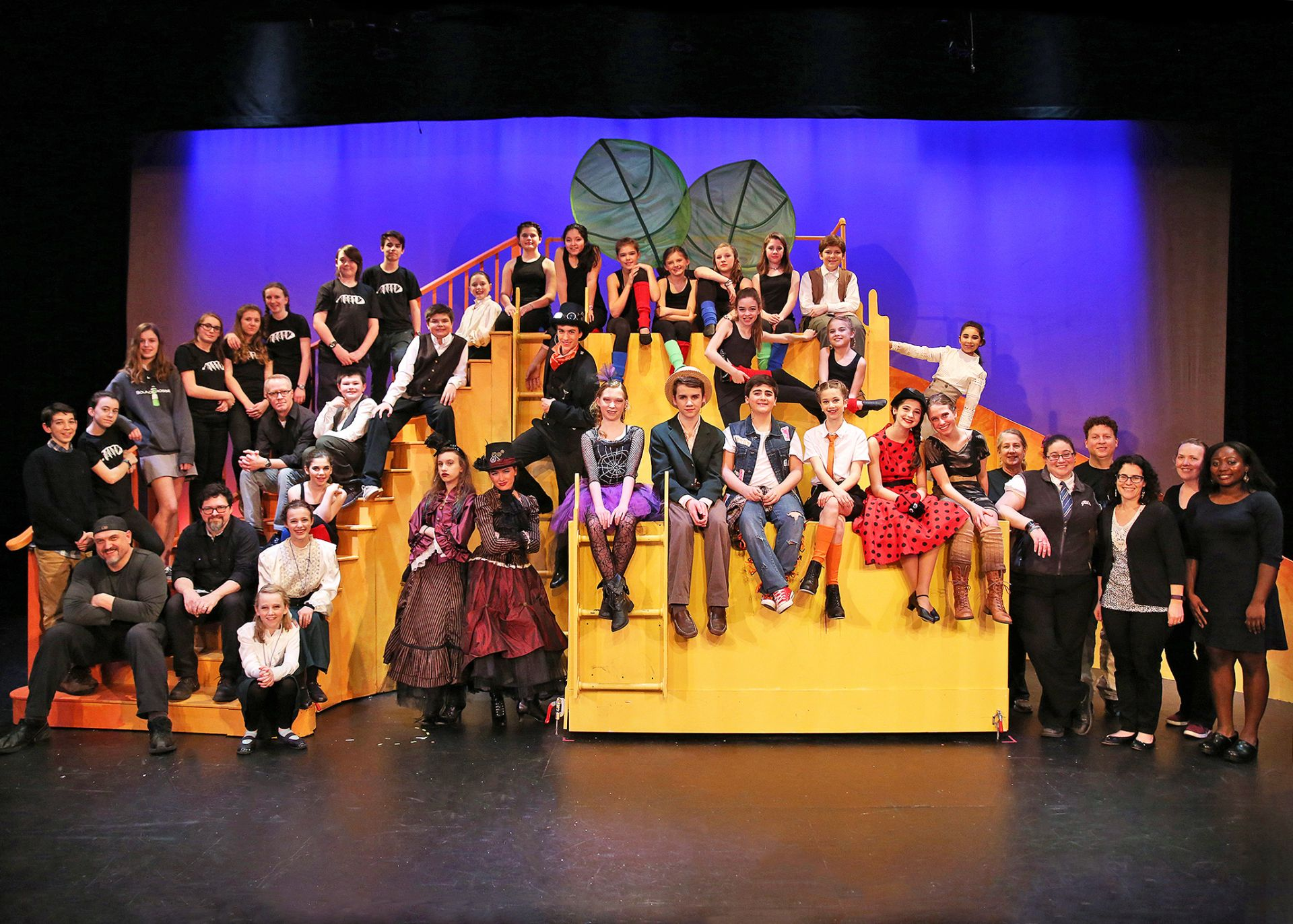 St. Luke's Tech Crew built a large set piece for the large cast of James and the Giant Peach