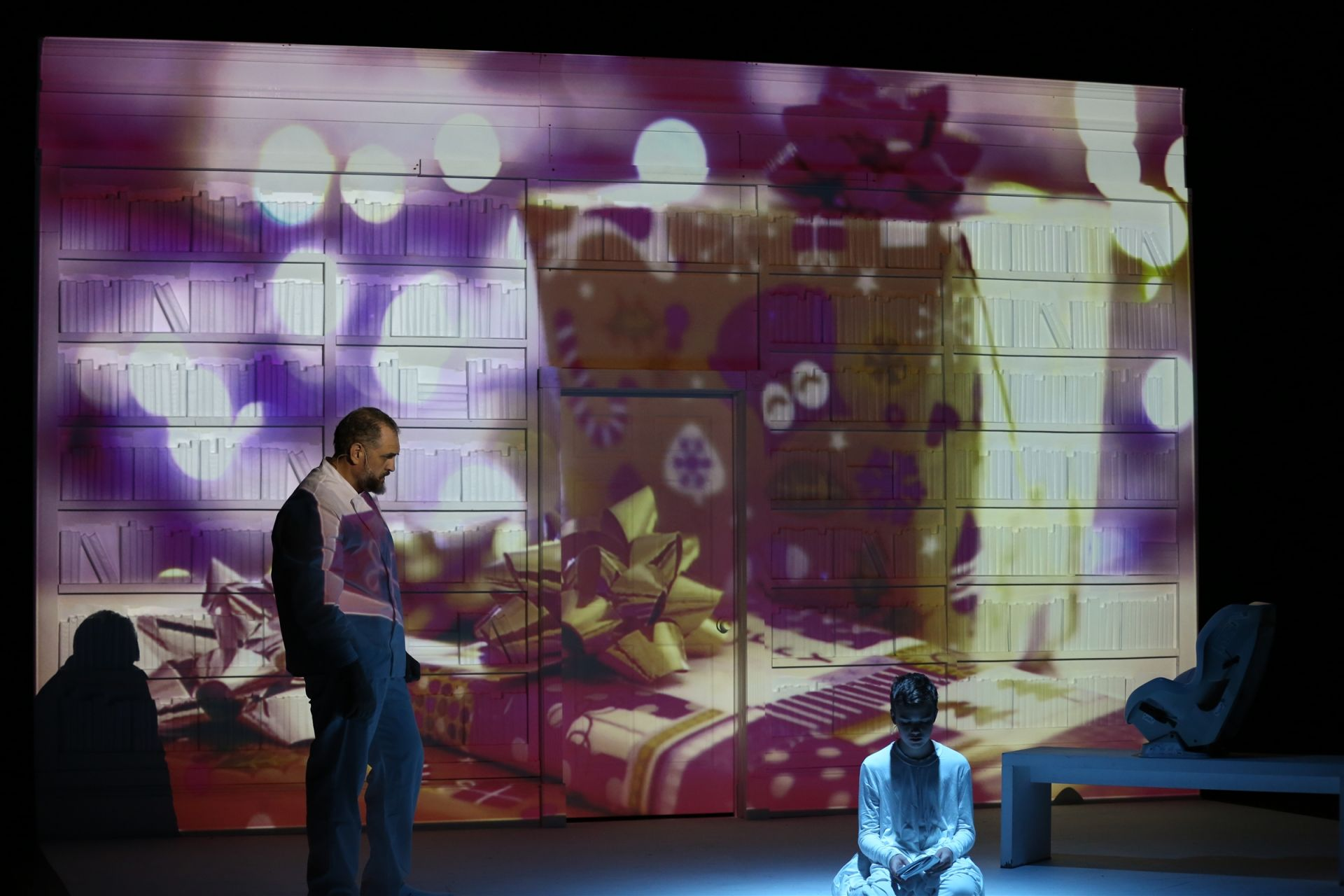 The Giver used large projections to enhance the production