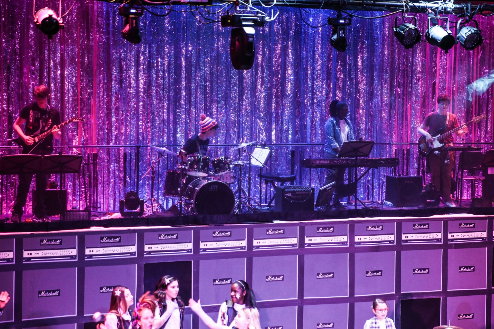 St. Luke's Tech Crew created an extra level for the student School of Rock band