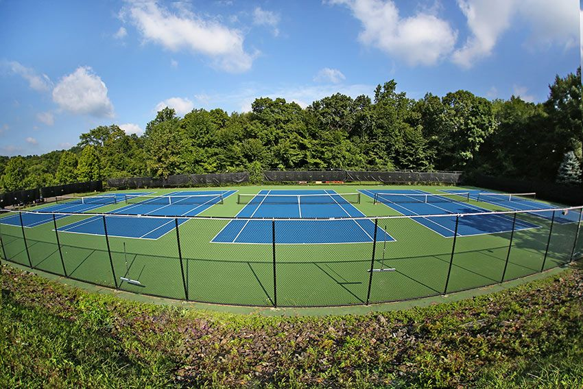 Five hard surfaced tennis courts