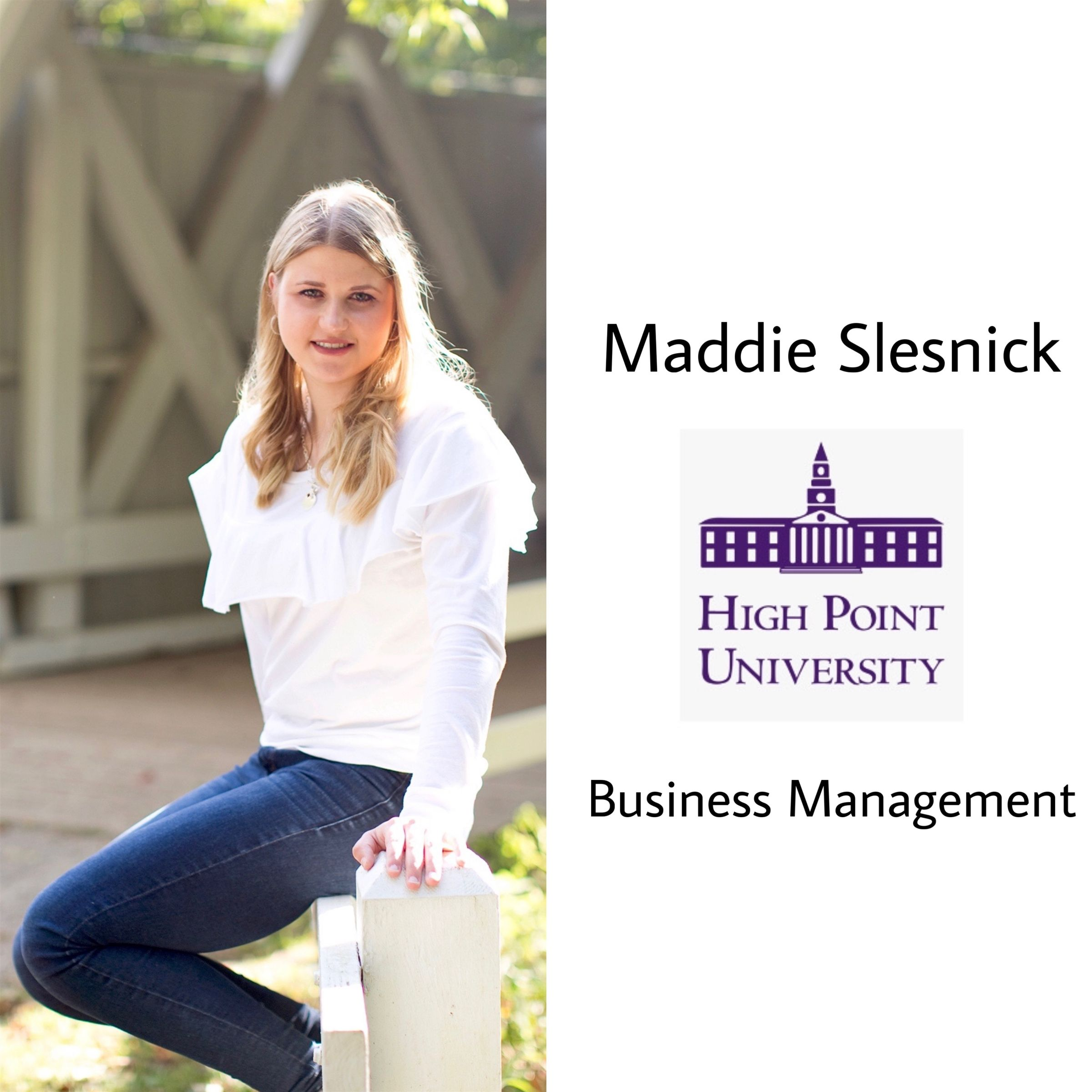 Congrats Maddie!! She will be attending High Point University next year majoring in business management :)