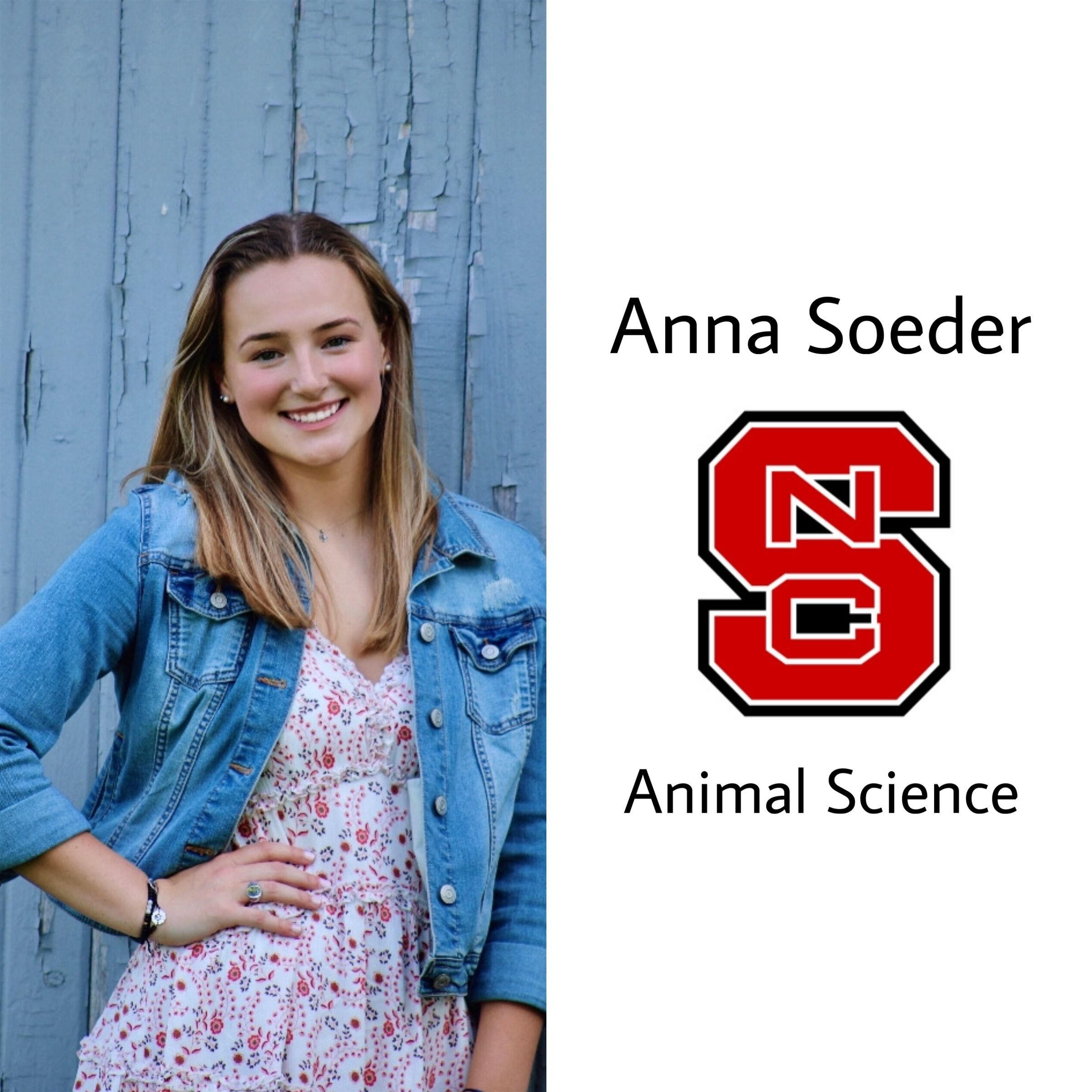 North Carolina isn't ready y'all!!! Congrats Anna! She will be attending North Carolina State University in the fall majoring in Animal Science!