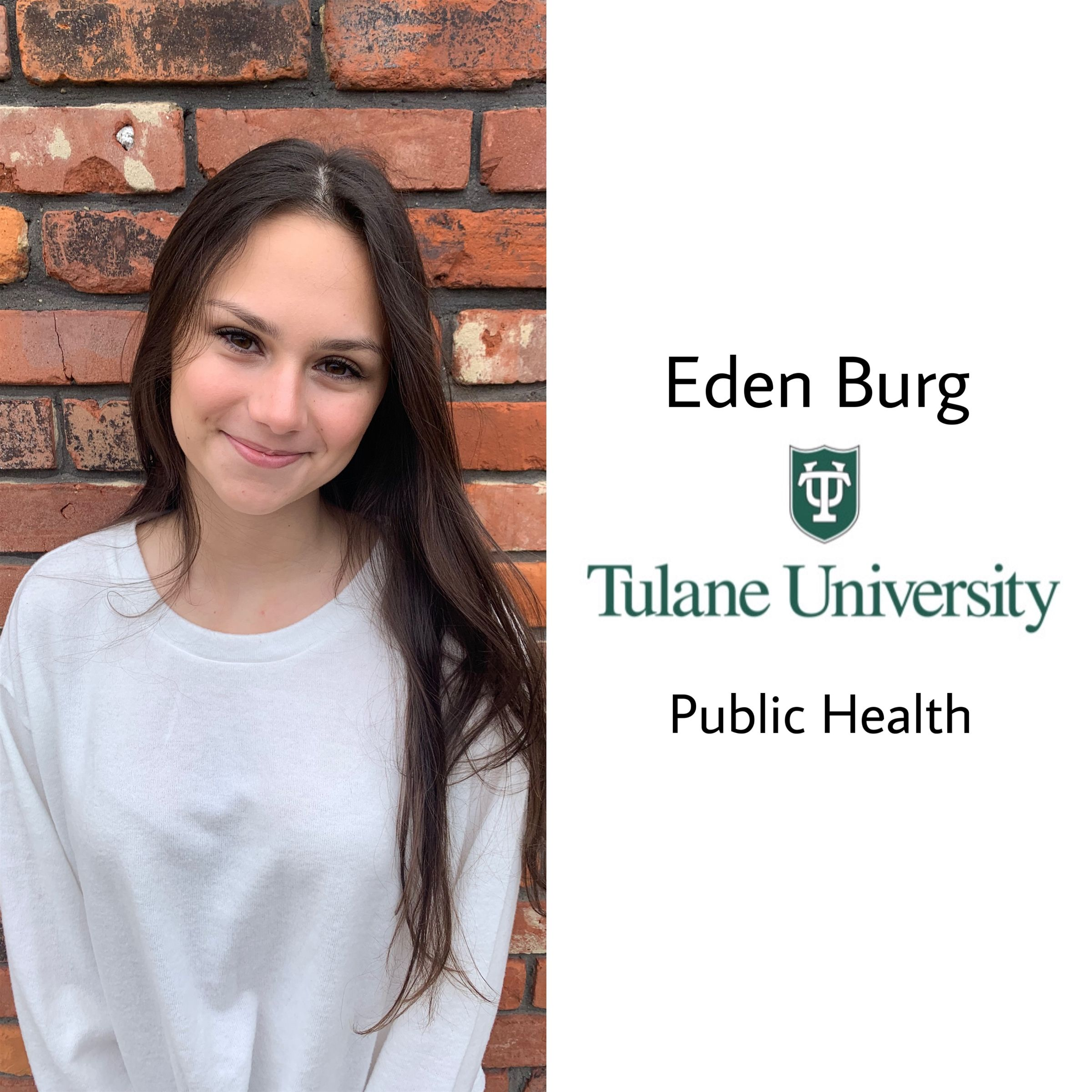 Congrats Eden!!! She will be attending Tulane University next year majoring in public health on a pre-med track! So proud of you :) Roll wave