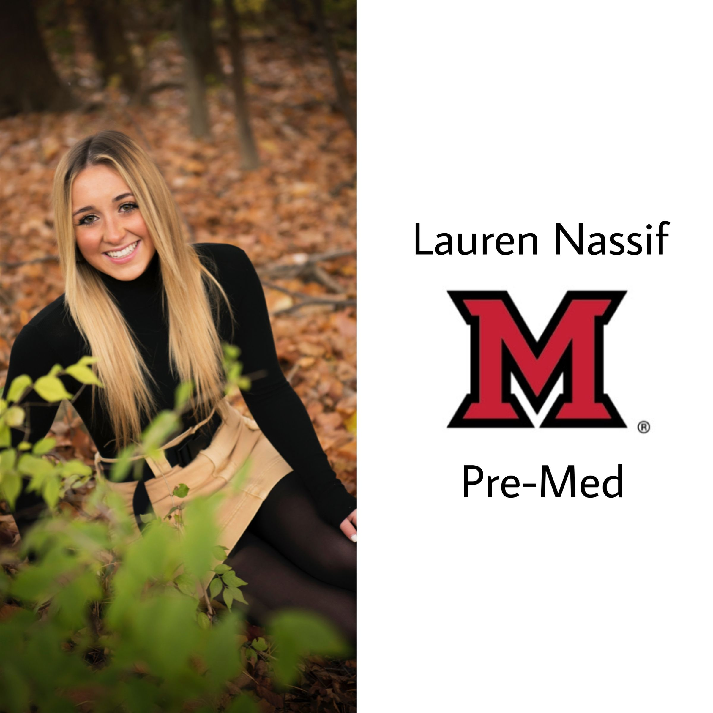 Another one Oxford bound!! Congrats to our class president and future redhawk! Lauren will be attending Miami University of Ohio majoring in pre-med!